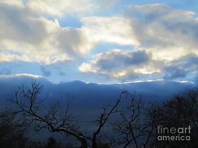 Photograph - Blue Wall Clouds 4 by Tara  Shalton
