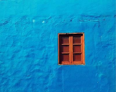 Blue Wall Print by Gustavo Garcia