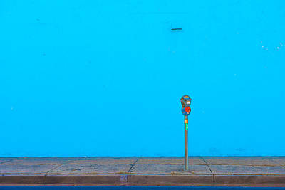 Blue Wall Parking Art Print by Darryl Dalton