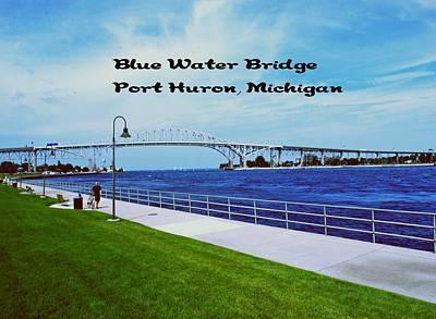 Photograph - Blue Water Bridge by Gary Wonning
