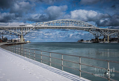 Photograph - Blue Water Bridges And Clouds by Ronald Grogan