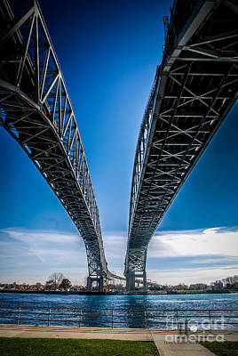 Photograph - Blue Water Bridges Center by Ronald Grogan