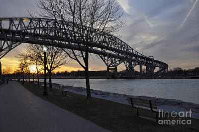 Photograph - Blue Water Bridges From Canada by Ronald Grogan