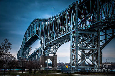 Photograph - Blue Water Bridges From Northwast by Ronald Grogan