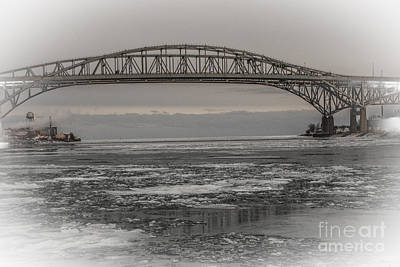 Photograph - Blue Water Bridges by Grace Grogan