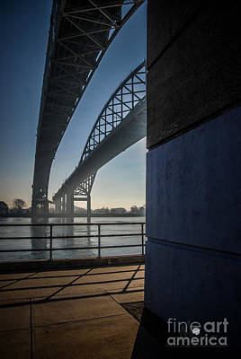 Photograph - Blue Water Bridges North by Ronald Grogan