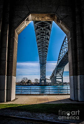 Photograph - Blue Water Bridges Thru Arch by Ronald Grogan