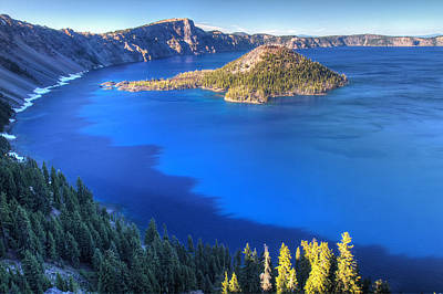 Photograph - Blue Water Of Crater Lake Oregon by Pierre Leclerc Photography
