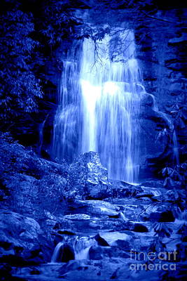 Photograph - Blue Waterfall by Cynthia Mask