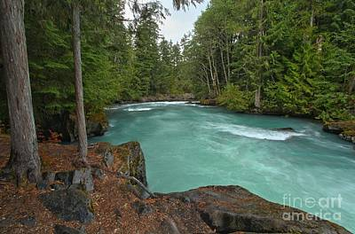 Photograph - Blue Waters And Lush Green Forest by Adam Jewell