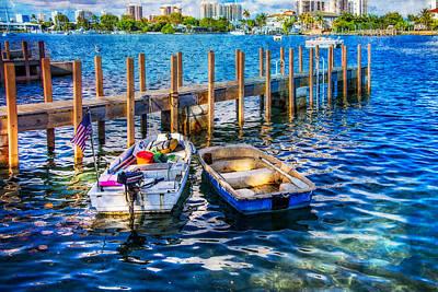Florida Bridge Photograph - Blue Waters by Debra and Dave Vanderlaan