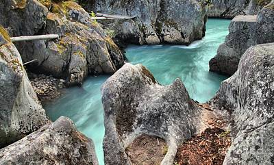 Photograph - Blue Waters Of The Cheakamus River by Adam Jewell