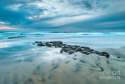 Cardiff State Beach Photograph - Blue Wave by Alexander Kunz