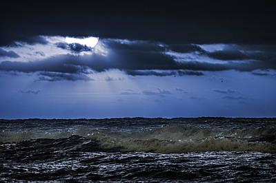 Digital Art - Blue Waves by Michael Thomas