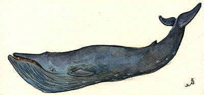 Blue Whale Original by Juan  Bosco