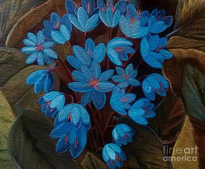 Blue Wildflowers Original by Susan Gabriel