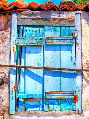 Idyll Photograph - Blue Window by Andreas Thust