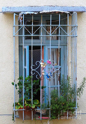 Photograph - Blue Window by Ethna Gillespie