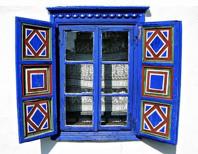 Photograph - Blue Window Handmade by Daliana Pacuraru