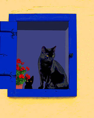 Photograph - Blue Window by I'ina Van Lawick