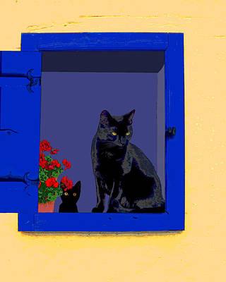 Photograph - Blue Window by I'ina Van Lawick