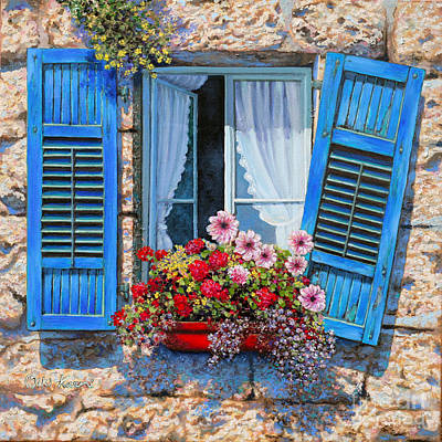 Painting - Blue Window by Miki Karni