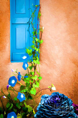 Photograph - Blue Window - Painted by Bob and Nancy Kendrick