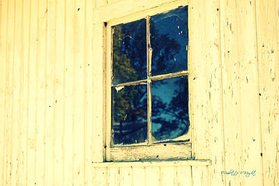Photograph - Blue Window by Paulette B Wright