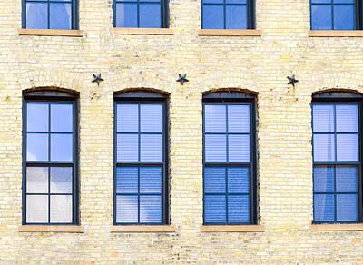 Photograph - Blue Windows And Stars by Lynn Hansen
