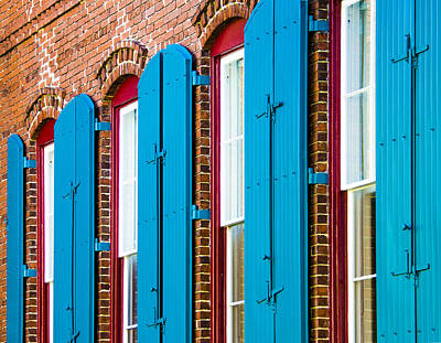 Blue Windows Art Print by Carolyn Marshall