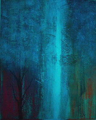 Blue Winter Art Print by Yul Olaivar