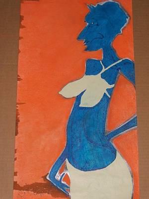 1-24-2013 Drawing - Blue Woman by Jonathon Hansen