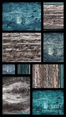Photograph - Blue Wood Panel by France Laliberte