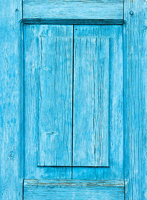 Royalty-Free and Rights-Managed Images - Blue wood panel by Tom Gowanlock