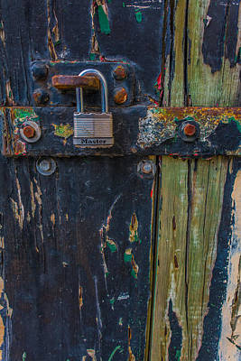 Photograph - Blue Wooden Door by James Hammond