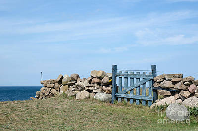 Photograph - Blue Wooden Gate  by Kennerth and Birgitta Kullman