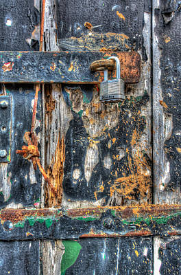 Photograph - Blue Wooden Hdr Door by James Hammond