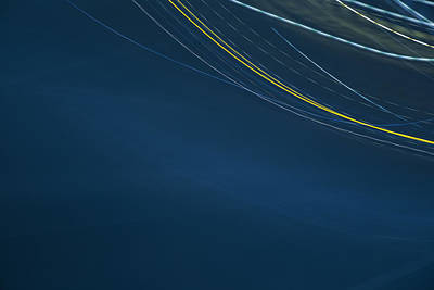 Light Trail Photograph - Blue You by Lee Harland