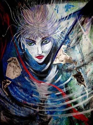 Blue Zen Art Print