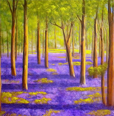 Bluebell Wood Art Print by Heather Matthews