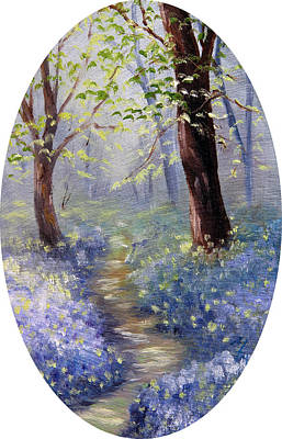 Bluebell Wood Art Print by Meaghan Troup