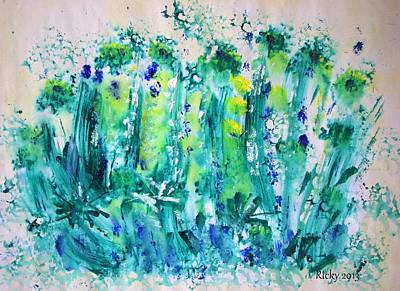 Painting - Bluebell Wood by Veronica Rickard