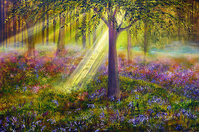 Bluebell Woods Art Print by Ann Marie Bone