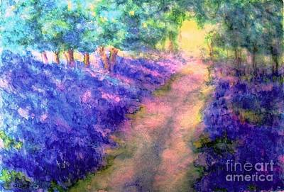 Painting - Bluebell Woods by Hazel Holland