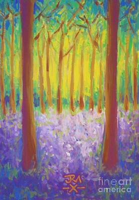 Bluebells Art Print by Jedidiah Morley