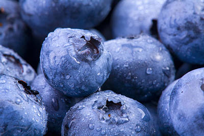Photograph - Blueberries by Alexey Stiop