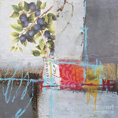 Blueberry Mixed Media - Blueberries by Elena Nosyreva
