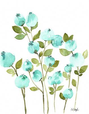 Blueberries Painting - Blueberries by Elise Engh