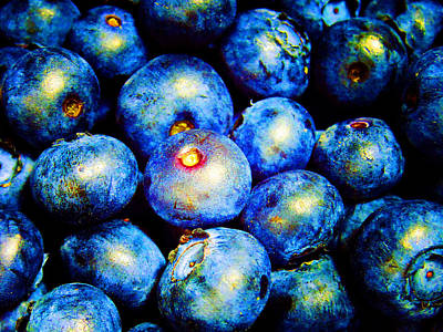 Photograph - Blueberries by Laurie Tsemak