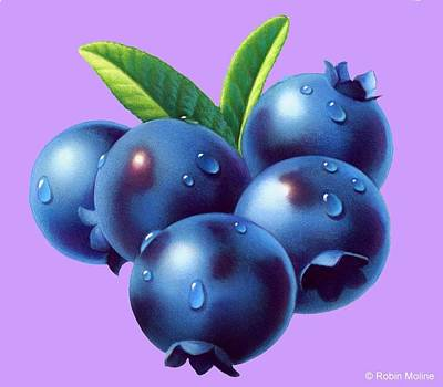 Painting - Blueberries by Robin Moline